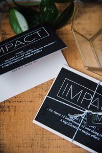 IMPACT greeting card with envelope