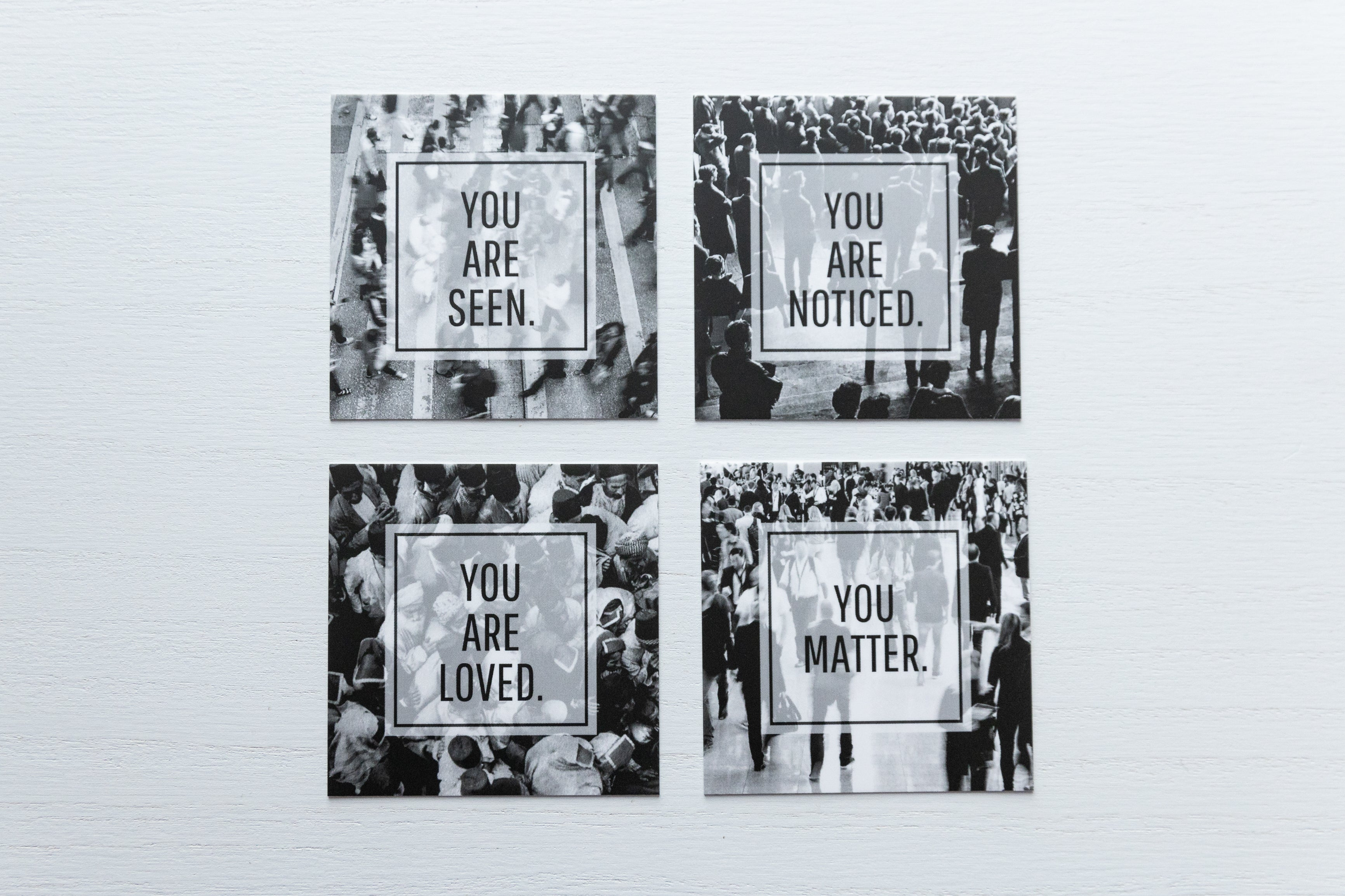 YOU MATTER. set of 4 note cards