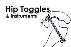 Hip toggles and instruments