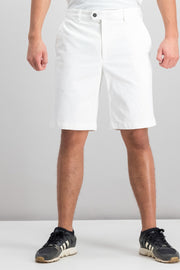 Tasso Elba Mens Twill Stretch Shorts Vintage White