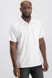 Clubroom Mens Pocket Polo, Bright White