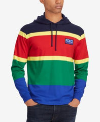 Polo Ralph Lauren Mens Colorbllocked Hooded Shirt