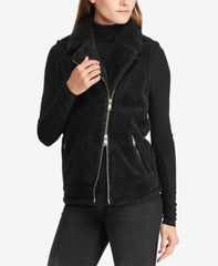 Lauren By Ralph Lauren Womens  Faux-Shearling Full-Zip Vest