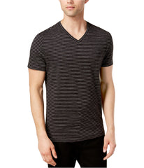 Alfani Mens Space-Dyed Stripe Basic T-Shirt