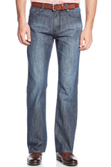 Alfani Mens Straight-Leg Kellan Jeans, Grey Blue