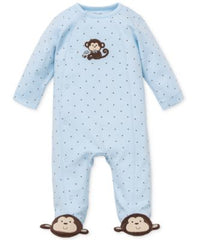 Little Me Baby Monkey Footed Coverall