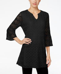 Style Co Petite Lantern-Sleeve Dress