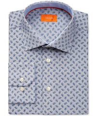 Tallia Mens Fitted White Micro-check Shirts