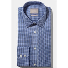 Moss Bros Sc Navy P'Tooth Formal Shirt