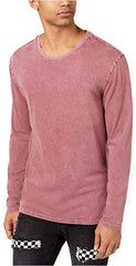 Jaywalker  Mens Long-Sleeve Snow Wash Tshirt Burgundy