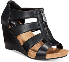 Style & Co Fettee Sandals Black Wedge