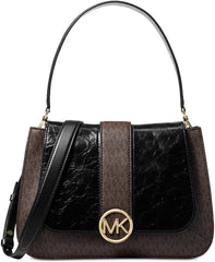 Michael Kors Lillie Signature Polished Top-Handle Satchel Bags