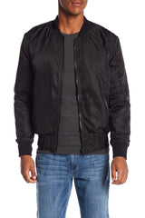 Blank NYC Paint It Black Bomber Jacket - Black