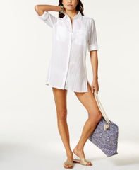 Lauren Ralph Lauren Crushed Cotton Camp Shirt