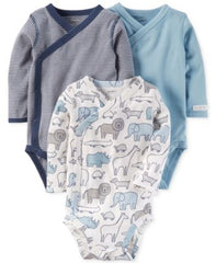 Carters 3-Pk. Cotton Side-Snap Bodysui Assorted 3 months