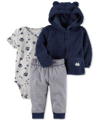 Carters 3-Pc. Fleece Hoodie