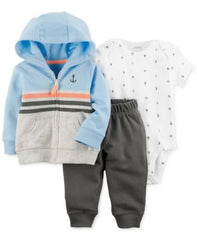 Carters 3-Pc. Cotton Hoodie