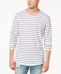 American Rag Cie Mens Striped Long Sleeve Basic T-Shirt