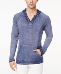 Inc International Concepts Mens French Terry Hoodie Basic Navy
