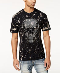 Reason Mens Memento Splatter-Skull T-Shirt