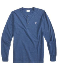 LRG Mens Fleck Henley Navy long Sleeve Shirt