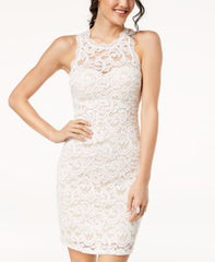 Sequin Hearts Juniors Sequined Lace Dress