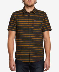 Volcom Mens Slim-Fit Striped Shirt