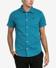 RVCA Men's Delivery Short Sleeve Woven Shirt