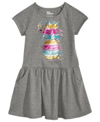 Epic Threads Pineapple-Print Drop-Waist Dre Pewter Heather 4T