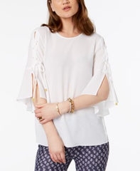 Michael Kors Lace-up-sleeve Top