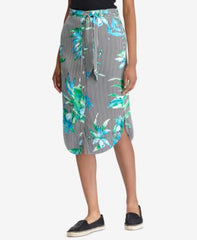 Lauren By Ralph Lauren Womens Floral-Print Twill Skirt Multi