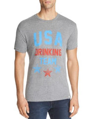 Kid Dangerous Mens USA Drinking Team Graphic T-Shirt