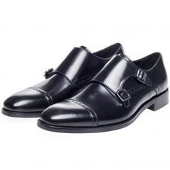Moss Bros Shard Double Monk Formal Shoes Size 7