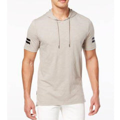 INC International Concepts Short Sleeve Hoodie - Tiramisu