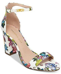 Steve Madden Girl Bella Two-Piece San Pink Floral Multi  Block Heel