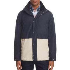 Barbour Mens Dolan Colorblocked Rain Navy L