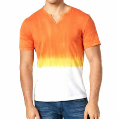 INC International Concepts Split-Neck Dip Dyed T-Shirt