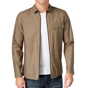 Kenneth Cole New York Full-Zip Shirt Jacket - Olive Drab