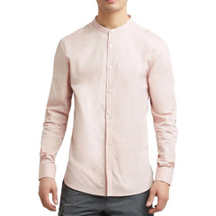 Kenneth Cole New York Band-Collar Shirt - Pink