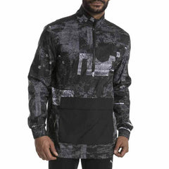 Puma Mens Energy Printed Half Zip Black Xl