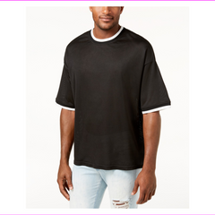 Jaywalker Drop Shoulder Crew Neck Mesh T-Shirts