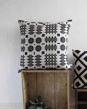 Welsh Blanket Large Print Cushion