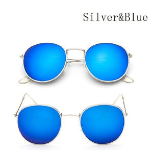 Summer Outdoor Metal Frame Round Sunglasses