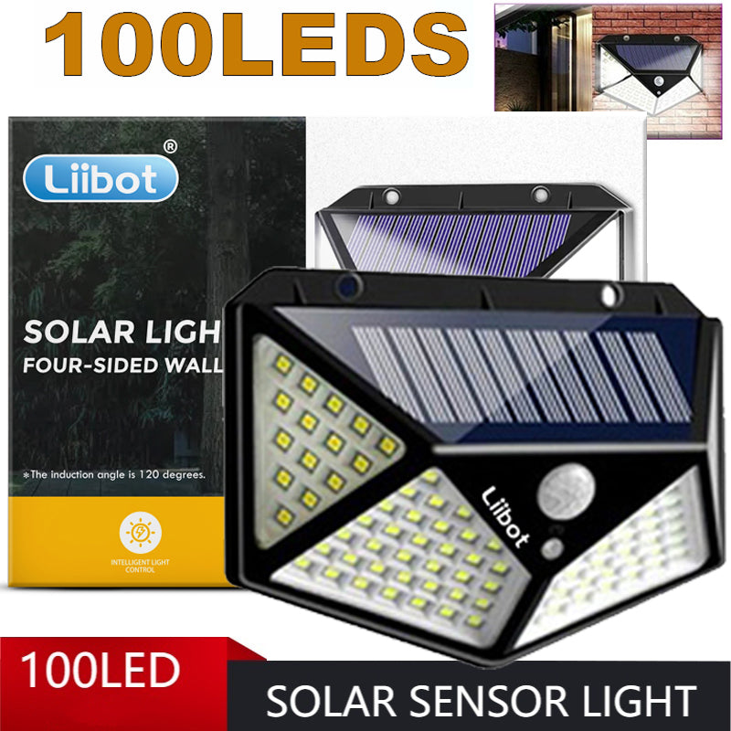 Super Bright Outdoor Waterproof Solar Light @LIIBOT Garden Wall Lamp Security Lighting 3 Modes Motion Sensor Light Solar Sensor Light for Garden Yard Backyard Driveway