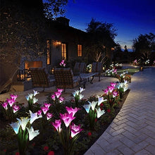 Load image into Gallery viewer, Artificial Lily Solar Garden Stake Lights (2 PACKS)