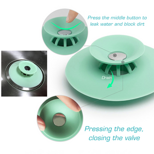 (Last stock &Hot sale) Creative Silicone Push-type Sink Floor Drain Cover 2/4PCS