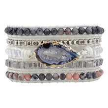 Load image into Gallery viewer, WHITE LABRADORITE WRAP BRACELET