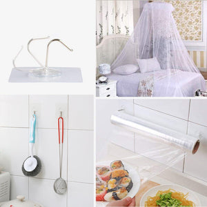 12PCs Strong Transparent Seamless Sticky Wall Hooks