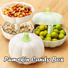 Load image into Gallery viewer, Pumpkin double layer candy box fruit plate