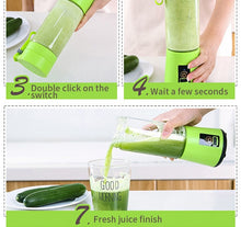 Load image into Gallery viewer, 380ml Portable Electric Juicer